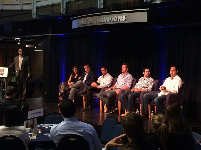 Six leaders in San Diego's active lifestyle industry talked about trends and the future of their business during a breakfast hosted by 6 Degrees at the Hall of Champions Museum Wednesday.