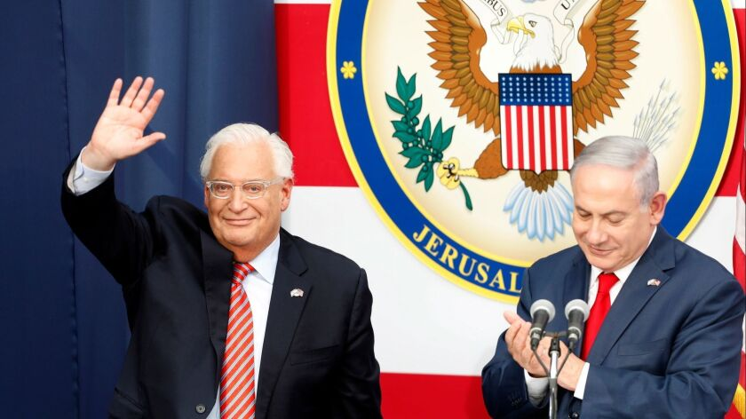 Opening ceremony of US embassy in Jerusalem, Israel - 14 May 2018