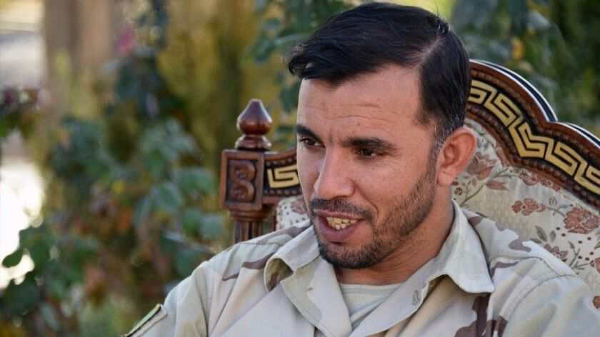 Abdul Raziq, police commander in Afghanistan's Kandahar province, shown in January.