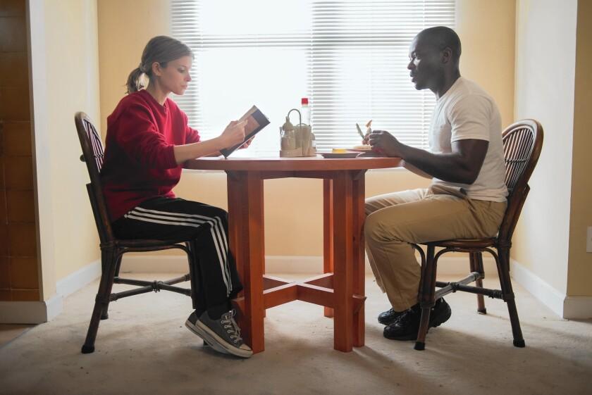 "Kate Mara and David Oyelowo in ""Captive."""