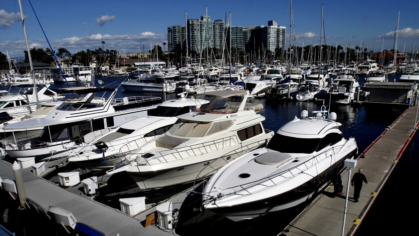 The harbor is home to more than 4,500 boats.