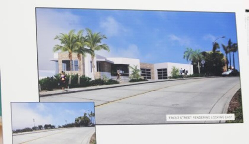 A street-level artist's rendering of the proposed Zavaro residence at 1994 Via Casa Alta on Mount Soledad.  Courtesy