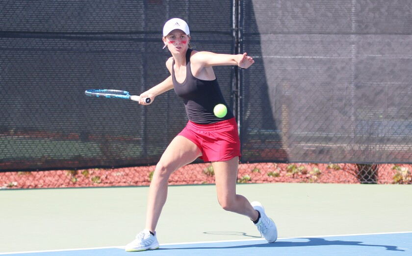 Katie Codd has played both junior tennis and interscholastic tennis during her high school years.