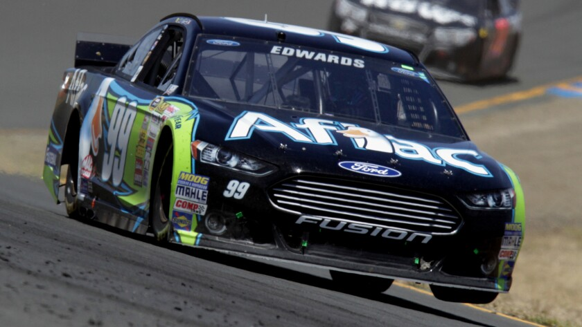 Carl Edwards posted his first career NASCAR road course race victory Sunday at Sonoma Raceway.