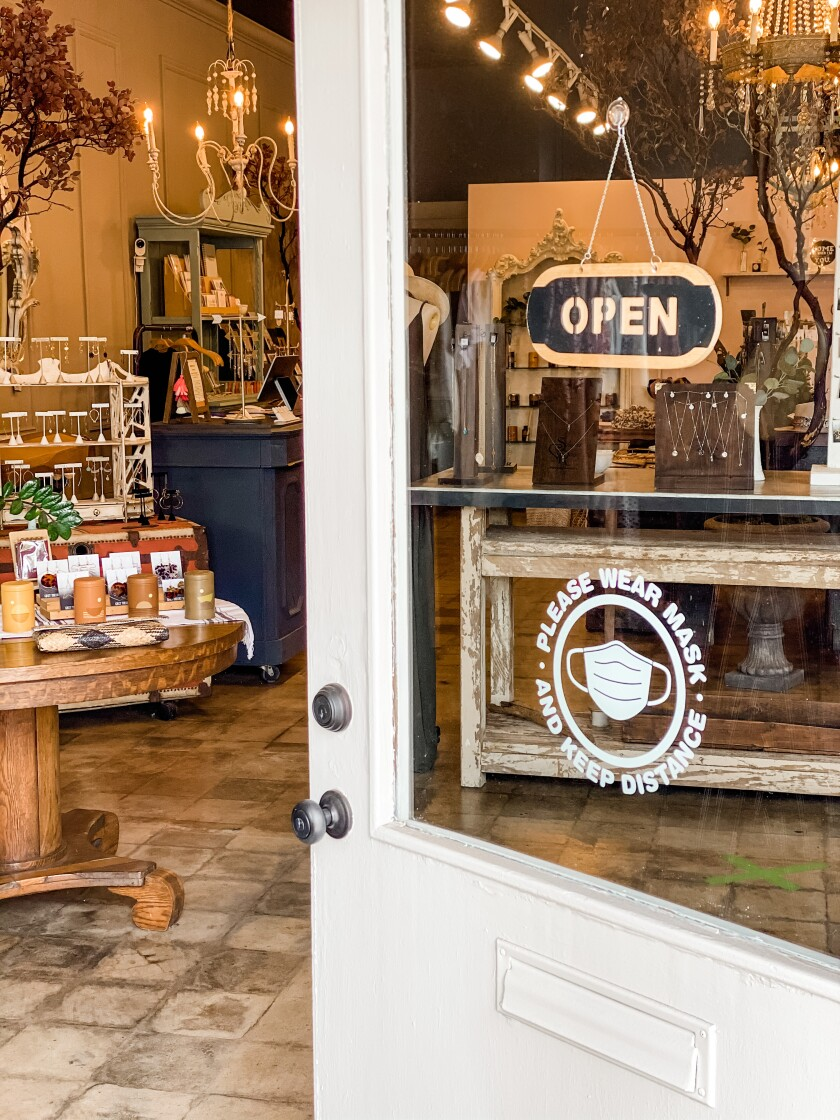 The door is open again at Metaphor Boutique in Vista.