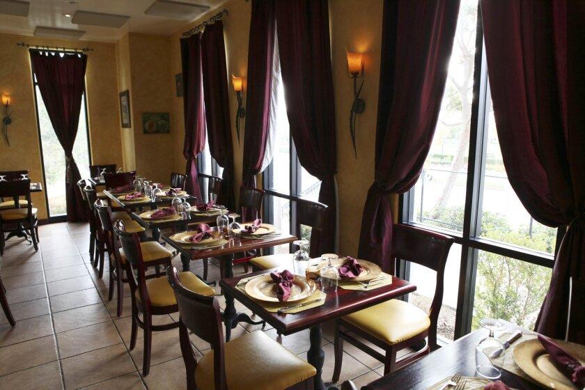 Inside the Santaluz-area French restaurant Cavaillon.