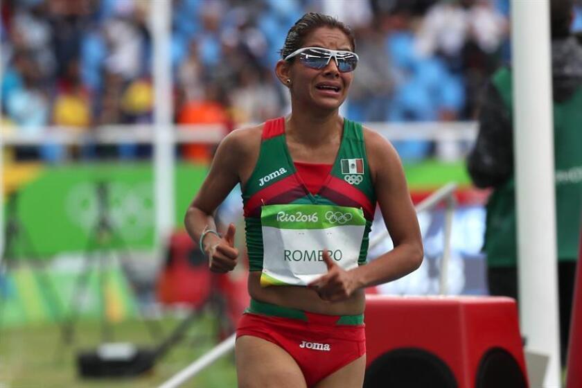 La mexicana Marisol Romero, doble campeona de los Juegos Panamericanos de Guadalajara 2011, ganó hoy la carrera de San Silvestre de la ciudad de México, última competencia del año en el país que reunió a 7.000 corredores. EFE/ARCHIVO