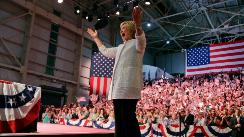 Hillary Clinton is cheered by supporters in Brooklyn, N.Y., this week.
