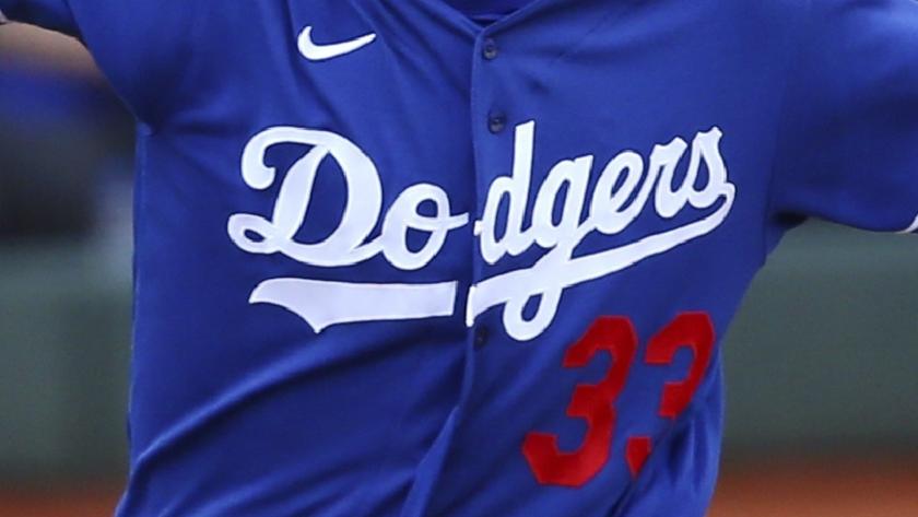Dodgers uniform shirt.