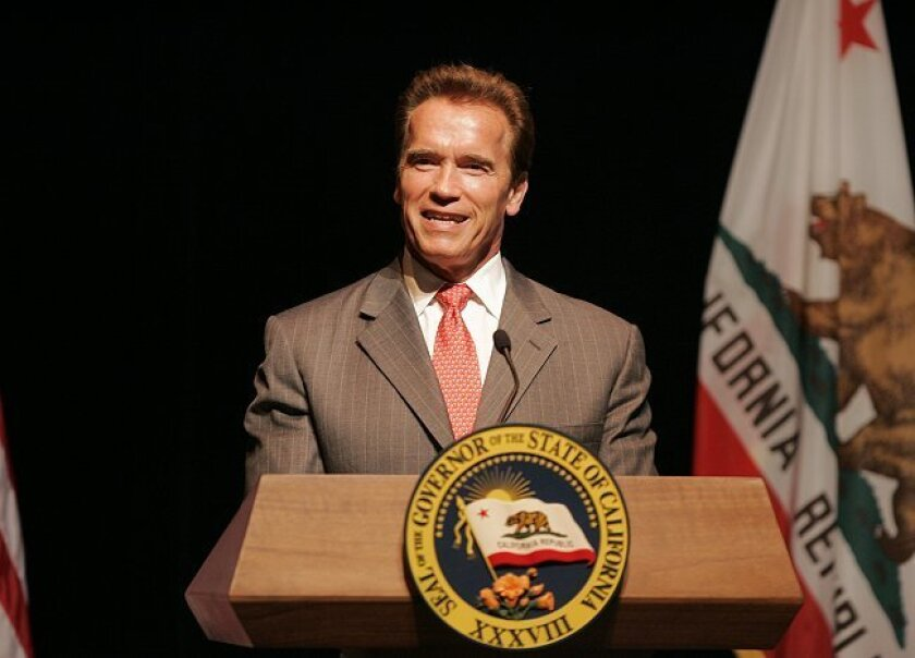 Gov. Arnold Schwarzenegger (seen in San Diego earlier this year) would like to be able to trim Medicaid services to deal with the state's deficit.