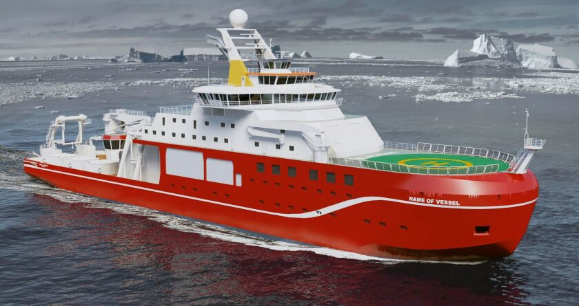 Britain's polar research ship (rendering)