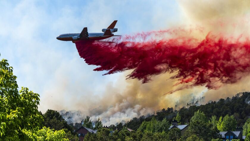 A July 4th wildfire in Basalt Colorado is fought on the ground and in the air.