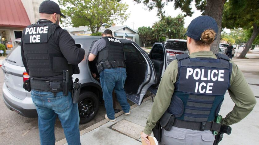 ICE officers arrest a Cuban man with a criminal record at his apartment in Chula Vista.