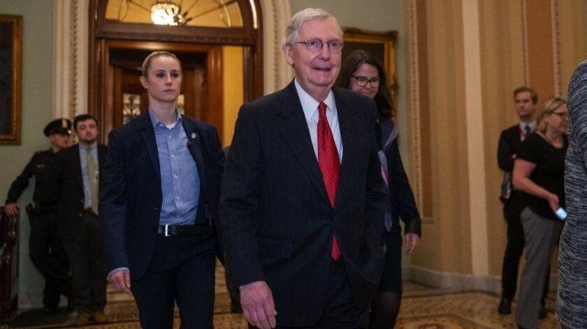Senate Majority Leader Mitch McConnell can call votes designed to make Democratic senators uncomfortable.
