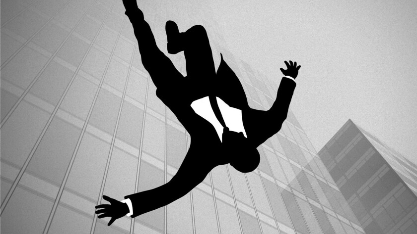 """The most popularly deconstructed symbol in and of American culture these days is """"Mad Men's"""" falling guy."""