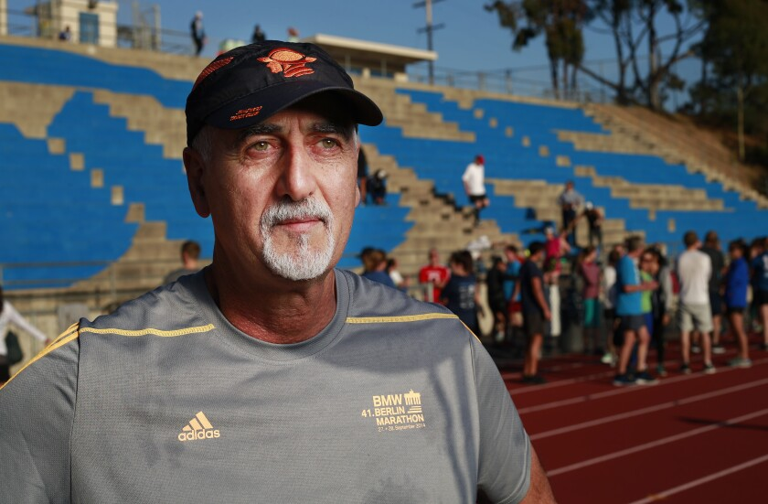 Reza Ghazinouri, 61, who was born in Iran and became an American citizen in 2011, wants to run a marathon when he's 100 years old.