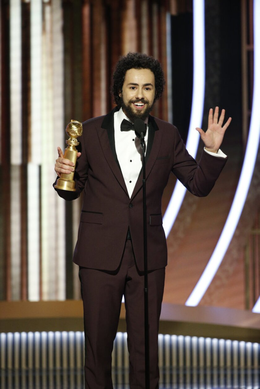 """Ramy Youssef, winner of the Golden Globe for lead actor in a comedy or musical series for """"Ramy."""""""