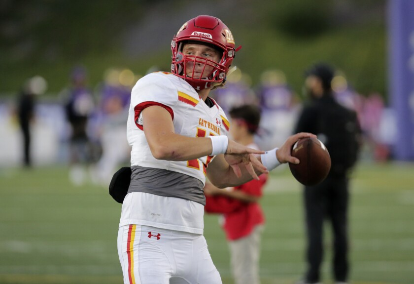 Catherdral Catholic quarterback DJ Ralph will play for New Mexico State, which isn't taking the field this fall.