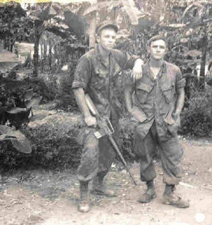 Jack Estes and Bob Gregory in Vietnam.
