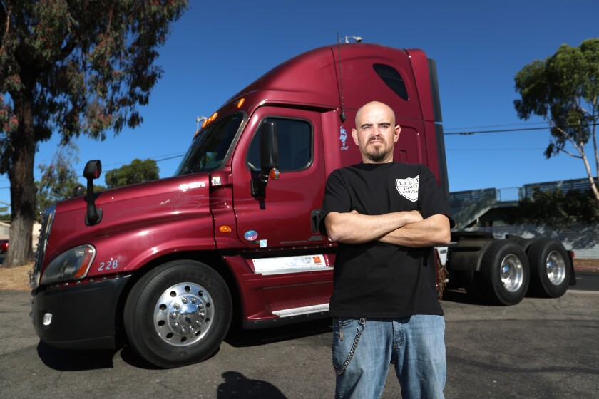 Walter Diaz has been driving the Ports of Los Angeles and Long Beach for 20 years.