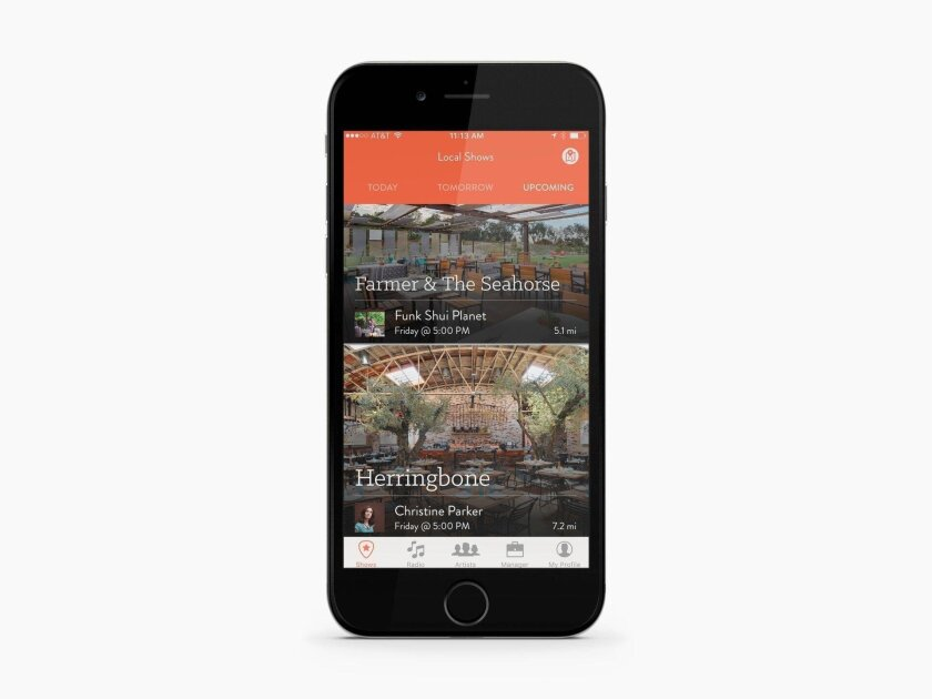 Gigtown lists live shows on its app to help users discover local musicians.