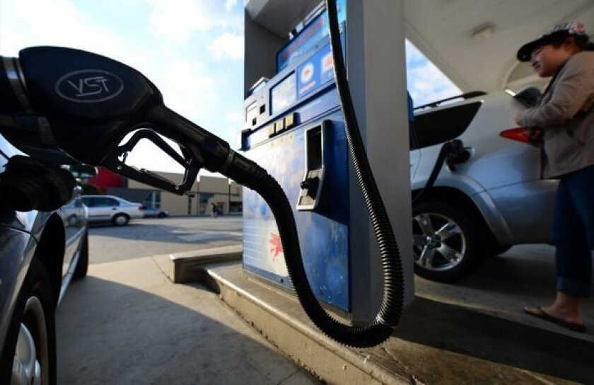 California gas prices still at record level on eve of holiday