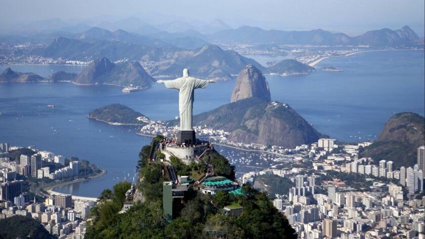 Aerial view of the Rio de Janeiro bay. Beginning June 17, U.S. citizens will no longer require a visa to visit Brazil.