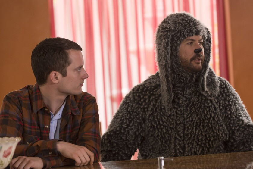 "Elijah Wood plays Ryan, who forms a relationship with his neighbor's dog, played by Jason Gann, in ""Wilfred,"" on FX Network's FXX channel."