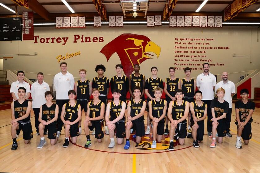 Torrey Pines Junior Varsity boys basketball team