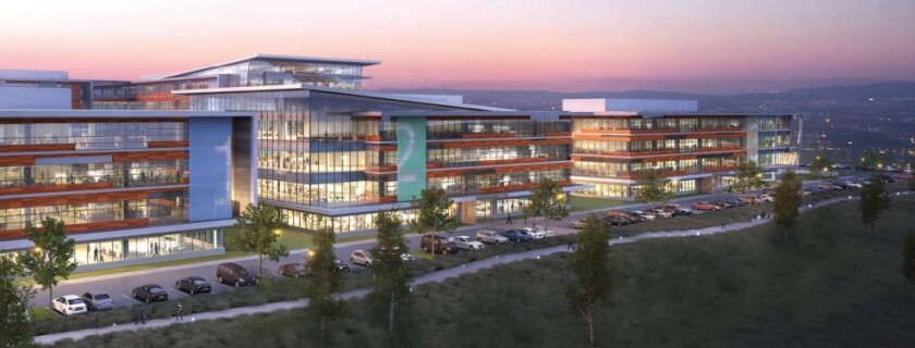A rendering of the new Aperture Del Mar campus.