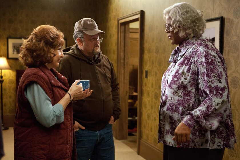 """Kathy Najimy, Larry the Cable Guy and Tyler Perry in """"Tyler Perry's A Madea Christmas."""""""