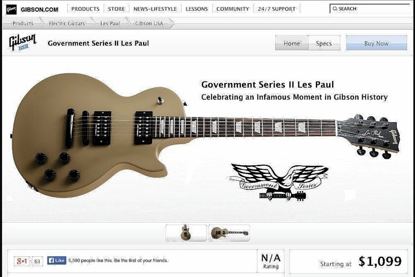 The Government Series II Les Paul from Gibson Guitars started at $1,099.