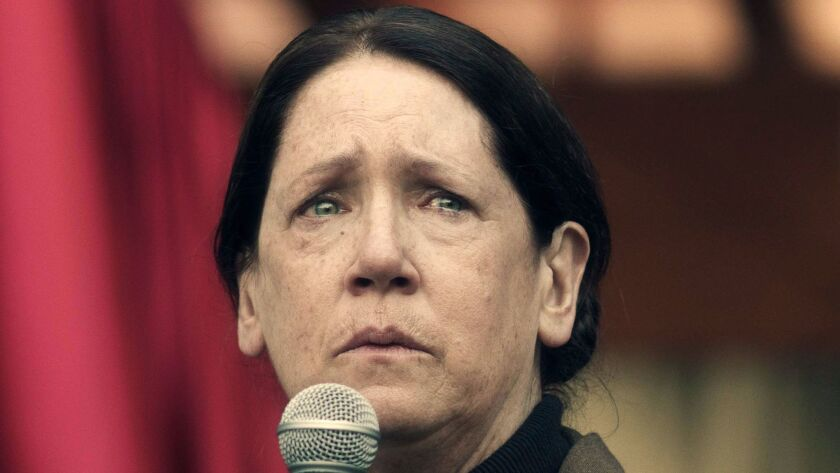 """Ann Dowd in a scene from """"The Handmaid's Tale."""""""