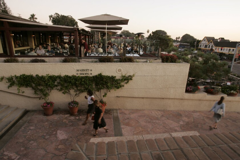 Pacifica Del Mar has a great patio for sunset views. (John Gastaldo/U-T)