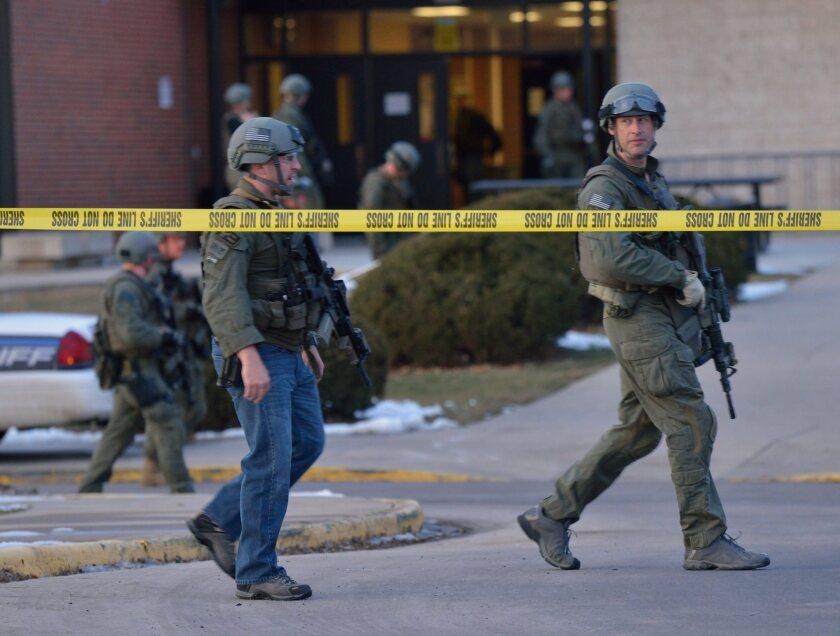 Arapahoe High School after a school shooting