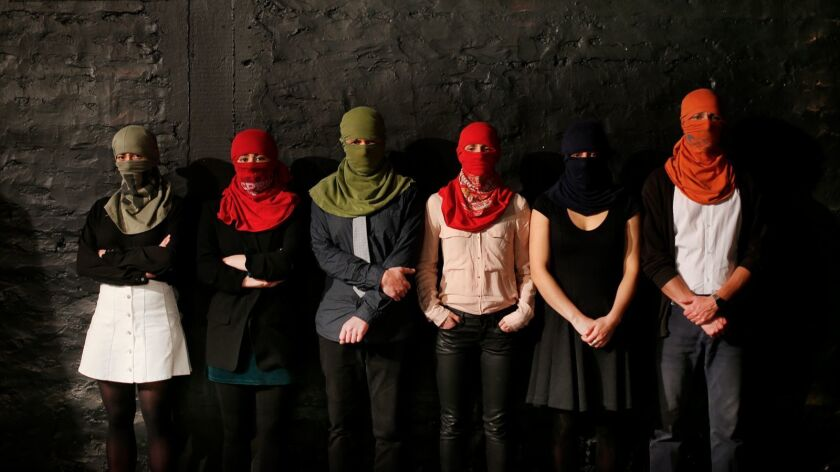 An image from Chilean playwright and director Guillermo Calderón's Mateluna, coming to REDCAT, Oc