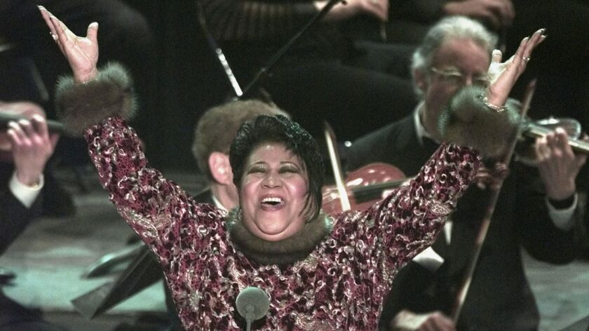 "When Luciano Pavarotti was too sick to perform ""Nessun Dorma"" as scheduled at the 40th Grammy Awards at Radio City Music Hall in 1998, Aretha Franklin took his place."