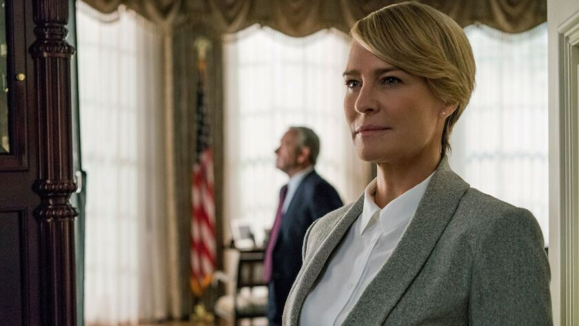 "Robin Wright as Claire Underwood in ""House of Cards"" Season 5."