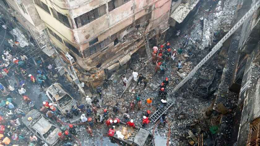 Death toll from Old Dhaka chemical warehouse fire now 70, Bangladesh - 21 Feb 2019