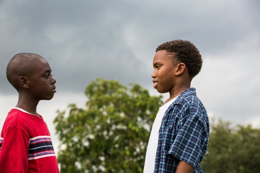 "Alex Hibbert and Jaden Piner in ""Moonlight."""
