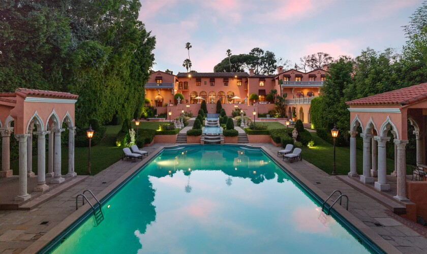 The Beverly House, a 3.5-acre compound with serious Hollywood history, has returned to the market with a $135-million price tag.