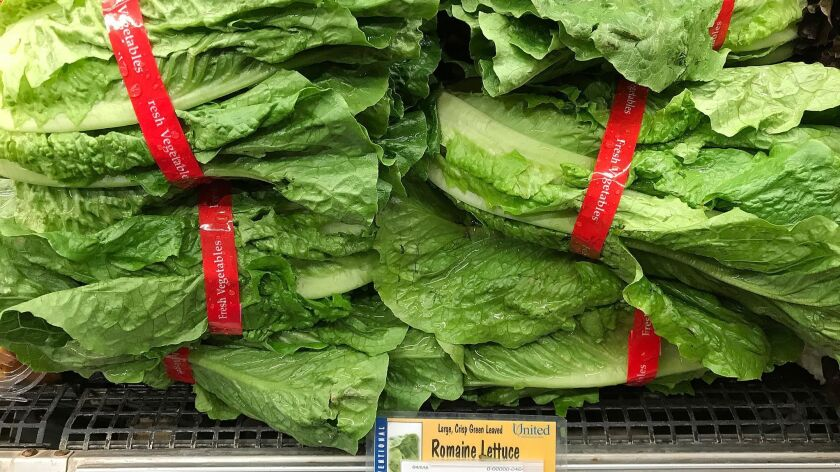 Federal health officials issued a nationwide alert Friday urging consumers to avoid romaine lettuce from California's Salinas Valley after a multistate outbreak of E. coli infections.