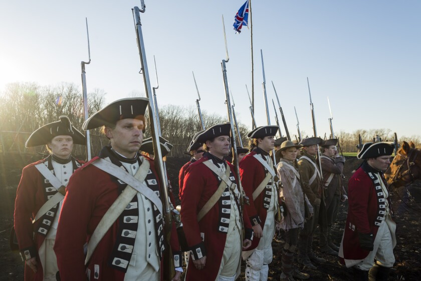 """British soldiers attempt to kill or capture the Continental Army's leading commanders on """"TURN: Washington's Spies."""""""