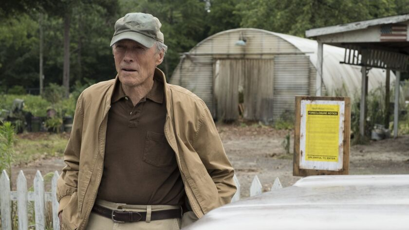 """Warner Bros.' """"The Mule,"""" starring Clint Eastwood, is part of a $100-million co-financing deal with Canada's Bron Creative."""