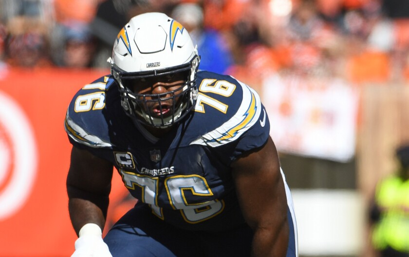 The Chargers hope to know more soon about whether offensive tackle Russell Okung will be able to return to the team this season.