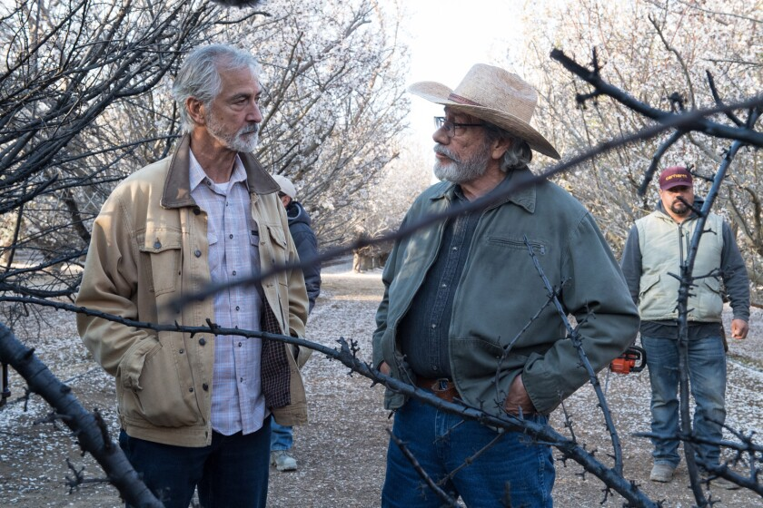 """David Strathairn, left, and Edward James Olmos in the movie """"The Devil Has a Name."""""""