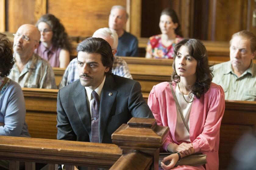 """Oscar Isaac and Carla Quevedo in """"Show Me a Hero."""""""