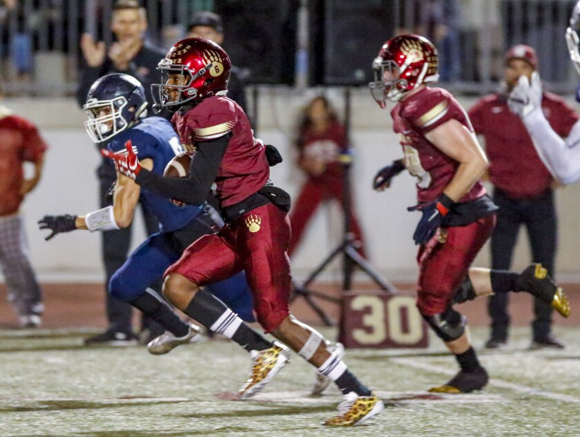 Mission Hills' Quinton Hadnot compiled more than 1,000 all-purpose yards for the Grizzlies last season.