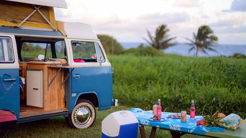 The 1975 VW camper van that John Nelson and his wife rented through Outdoorsy, a website where you can rent RVs, trailers and campers.