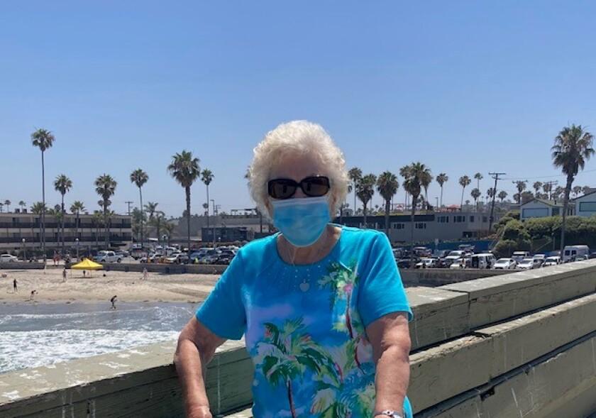 Kathleen O'Neil on a recent walk at the Ocean Beach Pier.